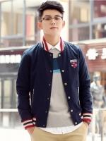 Pre Order เสื้อแจ็ตเก็ตเกาหลี แนวเบสบอล เสื้อแขนยาวคอตั้ง ปักลาย FASHION มี4สี