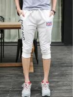 Pre Order กางเกงวอร์มแฟชั่นเกาหลี ขาสามส่วน สกรีนลาย ENGLAND มี3สี
