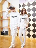 Pre Order ชุดวอร์มกีฬาสไตล์เกาหลี ชาย-หญิง พิมพ์ลาย Channel มีฮู้ด แขนยาว+กางเกงขายาว(มี 3 สี)