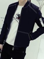 Pre Order เสื้อแจ็คเก็ตแฟชั่นเกาหลี ดีไซน์เรียบ เท่ห์ แต่งลายเส้น มี3สี