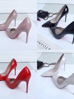 Pre Order รองเท้าส้นสูงแฟชั่นผู้หญิง หัวแหลม ทรงสวย ดีไซน์เรียบหรู มี 4 สี