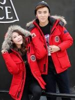 Pre Order เสื้อโค้ทแขนยาว แฟชั่นเกาหลี มี HOOD แต่งขนสัตว์ถอดได้ มี4สี
