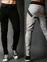 Pre Order กางเกงวอร์มขายาว ดีไซน์ Sport ทรงฮาเร็ม แต่งกระเป๋าหน้า มี3สี