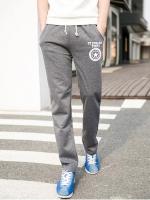 Pre Order กางเกงวอร์มขายาว สไตล์เกาหลี สกรีนลาย มีเชือกผูกเอว มี5สี