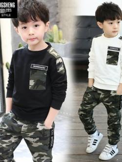 ชุดเซทเด็กเกาหลี ลายพรางทหาร เสื้อ+กางเกง มี2สี