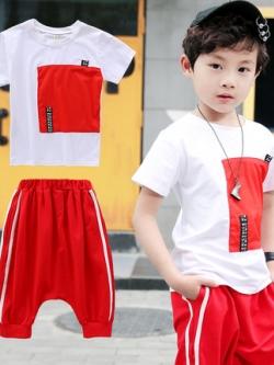 เสื้อเซทเด็กเข้าชุดเกาหลี เสื้อ+กางเกง มี2สี