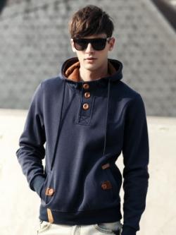เสื้อแจ็กเก็ตแขนยาวเกาหลี มีฮู้ด ดีไซส์กระดุม แนวเบสบอล มี5สี
