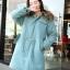 PreOrderคนอ้วน - เสื้อกันหนาว ไซส์ใหญ่ ผ้าฝ้ายโพลิเอสเตอร์ ข้างในหนังสัตว์ มี Hood+เฟอร์ สี : เทา / ดำ / เขียว thumbnail 3
