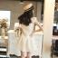 Vivi Party ++สินค้าพร้อมส่งค่ะ++ ชุดเดรสสั้น (ข้างในเป็นกางเกงนะค่ะ) คอปก ผ้าปักลาย เข้ารูป กระโปรงบาน – สี ขาว thumbnail 8