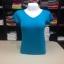 """เสื้อยืดคอวี สีฟ้าน้ำทะเล size """"M"""" thumbnail 1"""