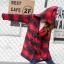 PreOrderคนอ้วน - เสื้อกันหนาว ไซส์ใหญ่ ผ้าซาติน+โพลิเอสเตอร์ ลายสก๊อต มีHood สีแดง thumbnail 3