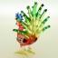 นกยูงแก้วเป่า Glass Figurine Peacock thumbnail 4