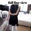 TOTO ++สินค้าพร้อมส่งค่ะ++ ชุดเสื้อตัวยาวเกาหลี แขนเต่อ ดีไซด์เปิดไหล่ แต่งสร้อยเกี่ยวระหว่างเสื้อชิ้นหน้ากับหลัง – สีดำ thumbnail 2