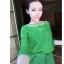 PreOrderไซส์ใหญ่ - เซตคู่ ไซส์ใหญ่-คนอ้วน เซตเสื้อลูกไม้สีเขียวซีทรู-กางเกงขาสั้นเอวยืดสีเขียว (แยก ชิ้น-ไซส์ได้ ตามราคา) thumbnail 2