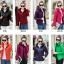 PreOrderคนอ้วน - เสื้อกันหนาวแฟชั่น ผ้าร่ม กันหิมะ กันลม สี : ดำ / ไวน์แดง / กุหลาบ / ม่วง / บานเย็น / เขียว / ส้ม / น้ำเงิน thumbnail 11