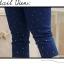 Pre Order - กางเกงแฟชั่นคนอ้วน ผ้ายีนส์ยืด มีเพชรแต่งที่กางเกงเข้ากัน thumbnail 3