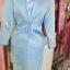 ผ้าไหมสังเคราะห์ทอเครื่อง ตัดชุดโทนสีฟ้าและน้ำเงิน thumbnail 15