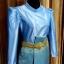 ผ้าไหมสังเคราะห์ทอเครื่อง ตัดชุดโทนสีฟ้าและน้ำเงิน thumbnail 16