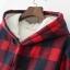 PreOrderคนอ้วน - เสื้อกันหนาวแฟชั่น ผ้าฝ้ายลายสก๊อต บุขนสัตว์ด้านใน มีHood สี : ดำ / แดง / เขียว thumbnail 7