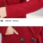 PreOrderคนอ้วน - เสื้อโค้ทกันหนาว ไซส์ใหญ่ เสื้อขนสัตว์ สีแดง thumbnail 6