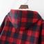 PreOrderคนอ้วน - เสื้อกันหนาวแฟชั่น ผ้าฝ้ายลายสก๊อต บุขนสัตว์ด้านใน มีHood สี : ดำ / แดง / เขียว thumbnail 8