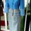 ผ้าไหมสังเคราะห์ทอเครื่อง ตัดชุดโทนสีฟ้าและน้ำเงิน thumbnail 20