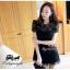 ViVi+สินค้าพร้อมส่งค่ะ++ ชุดเดรสเกาหลี สั้น คอกลม ดีไซด์เจ้าหญิง ผ้าลูกไม้ด้านหน้า ด้านหลังเป็นผ้าสีพื้น มีซับใน สวยมากค่ะ- สีดำ thumbnail 7