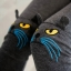 PreOrderคนอ้วน - กางเกง-เลคกิ้งกันหนาวแฟชั่น ไซส์ใหญ่ คนอ้วน ผ้าโพลิเอสเตอร์ยืด แต่งรูปแมวตรงเข่าน่ารัก ข้างในผ้ากำมะหยี่ สี : เทาอ่อน / เทาเข้ม / ดำ thumbnail 3