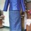 ผ้าไหมสังเคราะห์ทอเครื่อง ตัดชุดโทนสีฟ้าและน้ำเงิน thumbnail 24