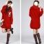 ++สินค้าพร้อมส่งค่ะ++เสื้อ coat เกาหลี สไตล์ cardigan ตัวยาว แขนยาว มี hood ซับในด้วยขนนิ่มอุ่นมากๆ ค่ะ ทอรูปกระต่ายด้านหน้า เก๋ – สีแดง thumbnail 2