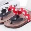 Pre Order - รองเท้าแฟชั่น รองเท้าแตะ ลายจุดมิกกี้เมาส์ สี : สีดำ / สีแดง thumbnail 5
