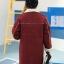 PreOrderคนอ้วน - เสื้อกันหนาว ไซส์ใหญ่ แจ็คเก็ตผ้าขนสัตว์ สี : เทา / แดง thumbnail 4