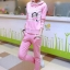 ++สินค้าพร้อมส่งค่ะ++Sport Set เกาหลี เสื้อ Jacket มี hood แขนยาว แต่ง Paul Frank และกางเกงขายาว สีชมพู thumbnail 3