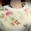 Pro Order - เสื้อกันหนาวแฟชั่น สองชั้นติดกัน ชิ้นในไม่หนามาก ชิ้นนอกเป็นผ้าชีฟองลายดอกไม้สีหวาน thumbnail 1