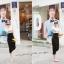 God is Girl ++สินค้าพร้อมส่งค่ะ++ชุดเดรสเกาหลี คอ U แขนกุด ผ้า cotton ทรงเข้ารูป น่ารัก – สี Apricot thumbnail 4
