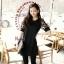 PreOrderไซส์ใหญ่ - เสื้อแฟชั่นเกาหลี ไซส์ใหญ่ คนอ้วน ผ้าชีฟอง แต่งแขน สีดำ thumbnail 4