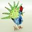 นกยูงแก้วเป่า Glass Figurine Peacock thumbnail 2