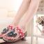 Pre Order - รองเท้าแฟชั่น รองเท้าแตะ ลายจุดมิกกี้เมาส์ สี : สีดำ / สีแดง thumbnail 3
