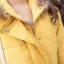PreOrderคนอ้วน - เสื้อกันหนาวแฟชั่น ผ้าฝ้ายโพลิเอสเตอร์บุนวม ไม่หนามาก มีHood ขนเฟอร์ สีเหลือง thumbnail 4