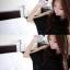 TOTO ++สินค้าพร้อมส่งค่ะ++ ชุดเสื้อตัวยาวเกาหลี แขนเต่อ ดีไซด์เปิดไหล่ แต่งสร้อยเกี่ยวระหว่างเสื้อชิ้นหน้ากับหลัง – สีดำ thumbnail 9