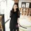 PreOrderไซส์ใหญ่ - เสื้อแฟชั่นเกาหลี ไซส์ใหญ่ คนอ้วน ผ้าชีฟอง แต่งแขน สีดำ thumbnail 1