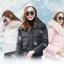 PreOrderคนอ้วน - เสื้อกันหนาว แจ๊คเก็ตบุนุ่น ขนเฟอร์อุ่น ถอดได้ สี : ขาว / ชมพู / ดำ thumbnail 6