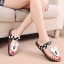 Pre Order - รองเท้าแฟชั่น รองเท้าแตะ ลายจุดมิกกี้เมาส์ สี : สีดำ / สีแดง thumbnail 1