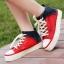 Pre Order - รองเท้าผ้าใบแฟชั่น ลำลอง ผ้ายีนส์ สไตล์ลุย ๆ สี : สีแดง / สีฟ้า / สีเขียว thumbnail 4