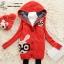 ++สินค้าพร้อมส่งค่ะ++เสื้อ coat เกาหลี สไตล์ cardigan ตัวยาว แขนยาว มี hood ซับในด้วยขนนิ่มอุ่นมากๆ ค่ะ ทอรูปกระต่ายด้านหน้า เก๋ – สีแดง thumbnail 4