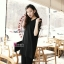 PreOrderไซส์ใหญ่ - เสื้อแฟชั่นเกาหลี ไซส์ใหญ่ คนอ้วน ผ้าชีฟอง แต่งแขน สีดำ thumbnail 2