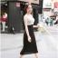 God is Girl ++สินค้าพร้อมส่งค่ะ++ชุดเดรสเกาหลี คอ U แขนกุด ผ้า cotton ทรงเข้ารูป น่ารัก – สี Apricot thumbnail 5