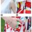 Angel Babie ++สินค้าพร้อมส่งค่ะ++ชุดแฟชั่นเซ็ทเกาหลี เสื้อคอ V แขนกุด ผ้าไหมเนื้อดีสวย+กระโปรงผ้าพิมพ์ลายยุโรปเก๋ – สีขาว thumbnail 5