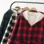 PreOrderคนอ้วน - เสื้อกันหนาวแฟชั่น ผ้าฝ้ายลายสก๊อต บุขนสัตว์ด้านใน มีHood สี : ดำ / แดง / เขียว thumbnail 6