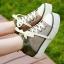 Pre Order - รองเท้าผ้าใบแฟชั่น ลำลอง ผ้ายีนส์ สไตล์ลุย ๆ สี : สีแดง / สีฟ้า / สีเขียว thumbnail 5